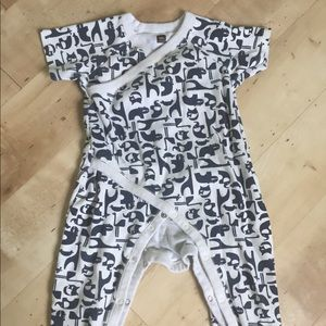Tea collection wrap romper animals